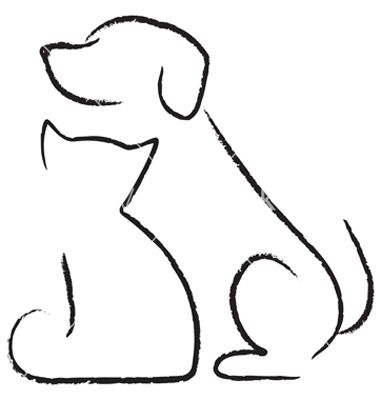 Sketch clipart cute cat Dog images and drawings (Cats/Dogs)