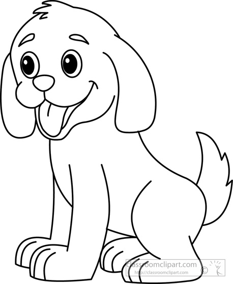 Pets clipart black and white And Clip Art Dog Art