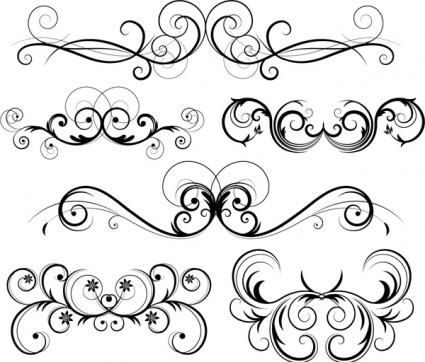 Simple clipart filigree Download clip art Patterns Filigree