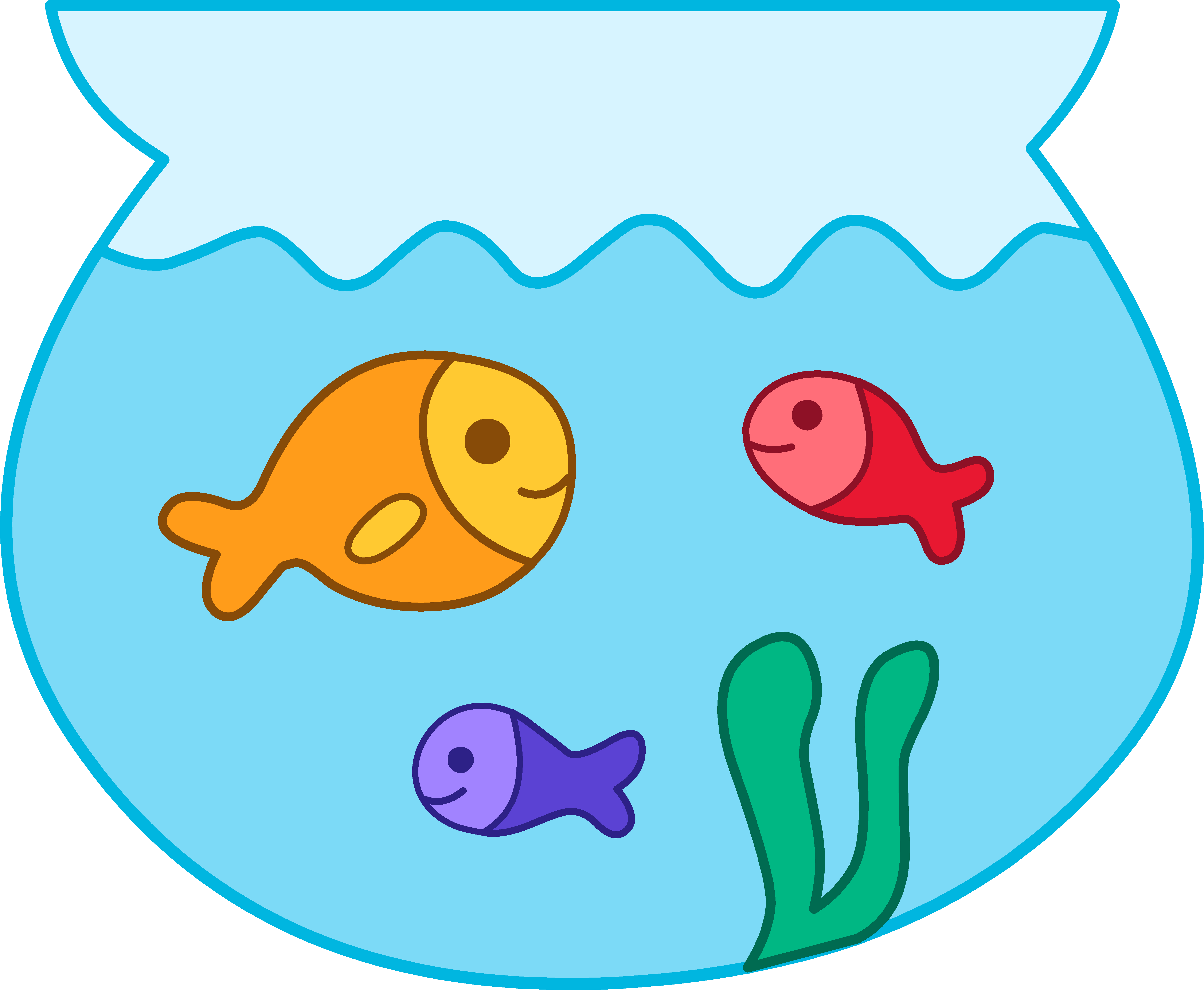Line Art clipart fish bowl Bowl collection download Fish clip