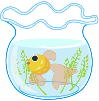 Line Art clipart fish swimming Clipart; Clip With Goldfish Clipart