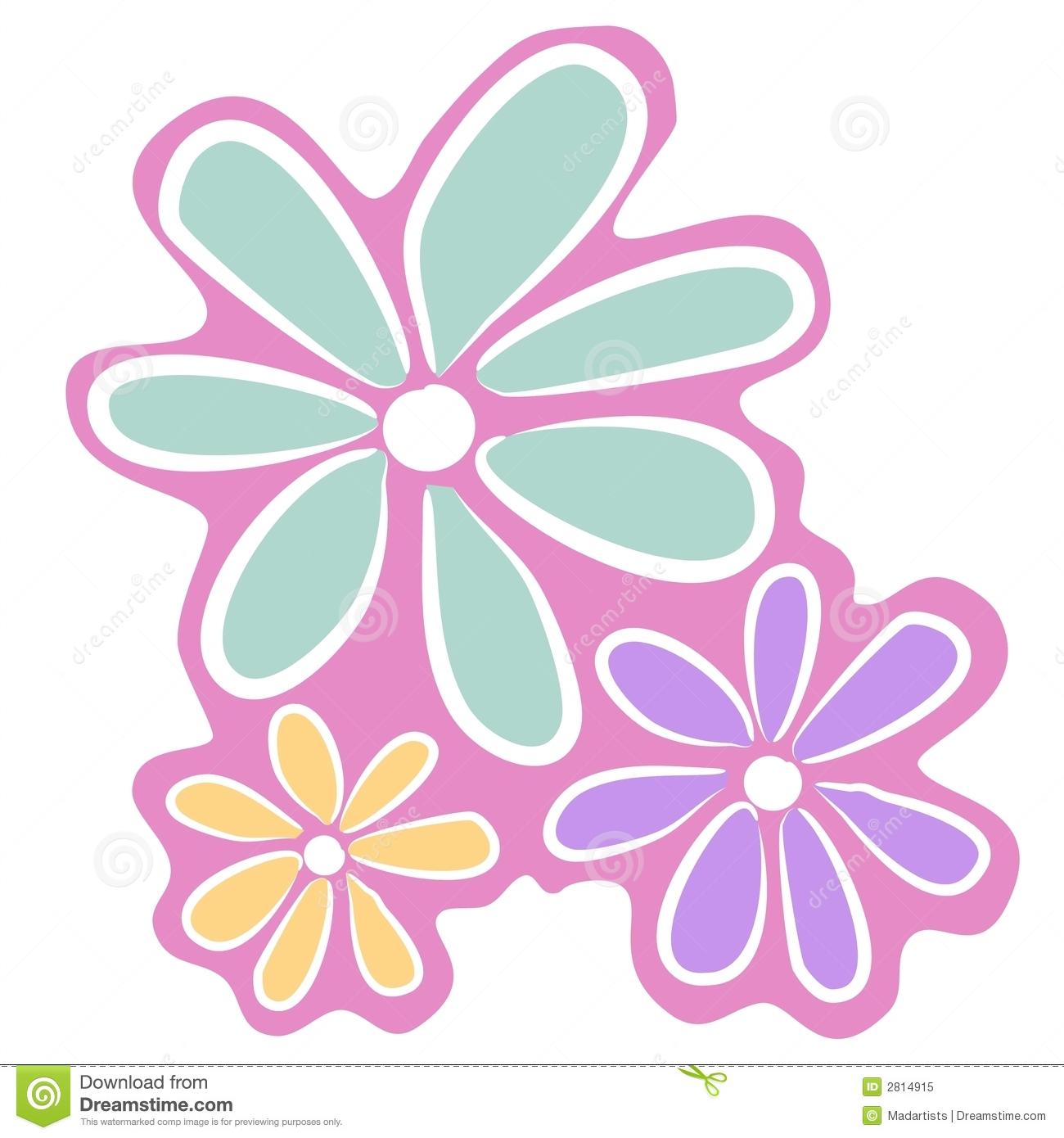 Simple clipart blue flower #12