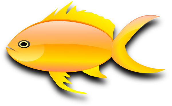 Line Art clipart golden fish Clip white and Goldfish art
