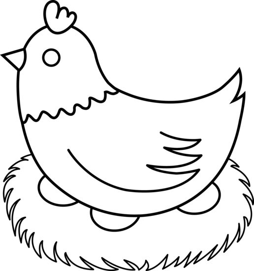 Line Art clipart hen Hen with #20285 free nest