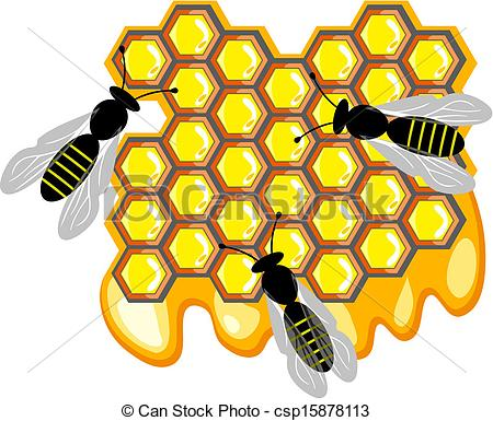 Bees clipart sweet honey Bees sweet Vector Art of