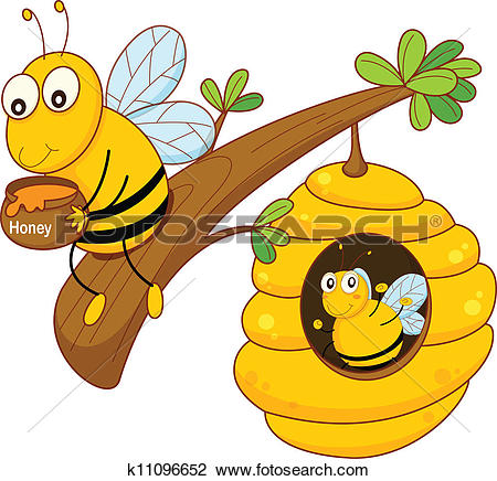 Bee clipart honey bee Collection Clip Art free Cartoon