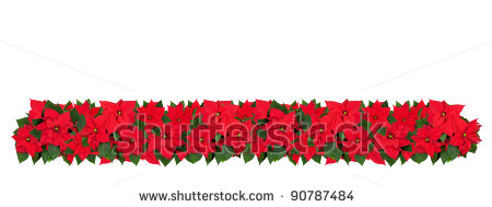Poinsettia clipart horizontal flower border Flower Free Panda Border horizontal%20flower%20border%20clipart