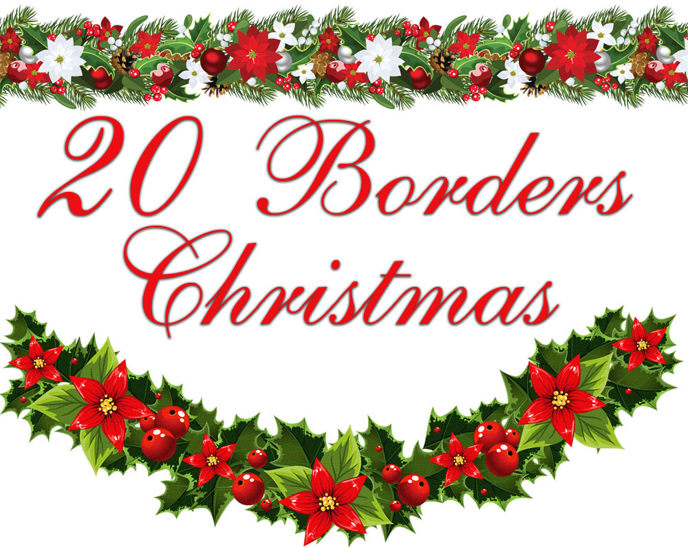 Line Art clipart horizontal border Poinsettia Cliparts Free Christmas Horizontal