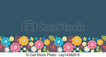 Line Art clipart horizontal border Border Vector oriental flowers horizontal