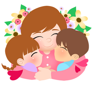 Kisses clipart mother and child White 2 day day black