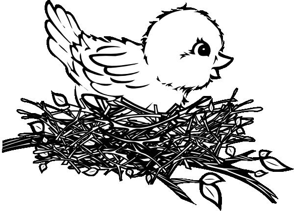 Line Art clipart nest Art Chick online In Animal