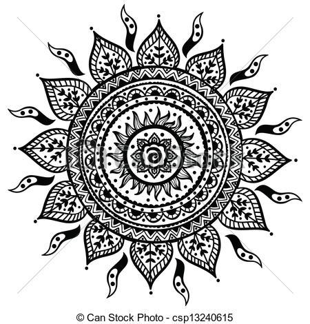 Line clipart ornament Indian Beautiful Beautiful Vector