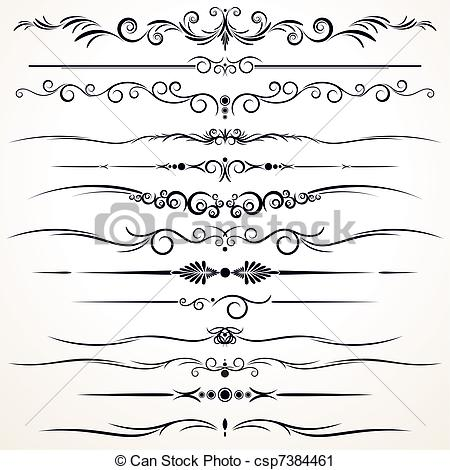 Line clipart vector  in in Different Ornamental