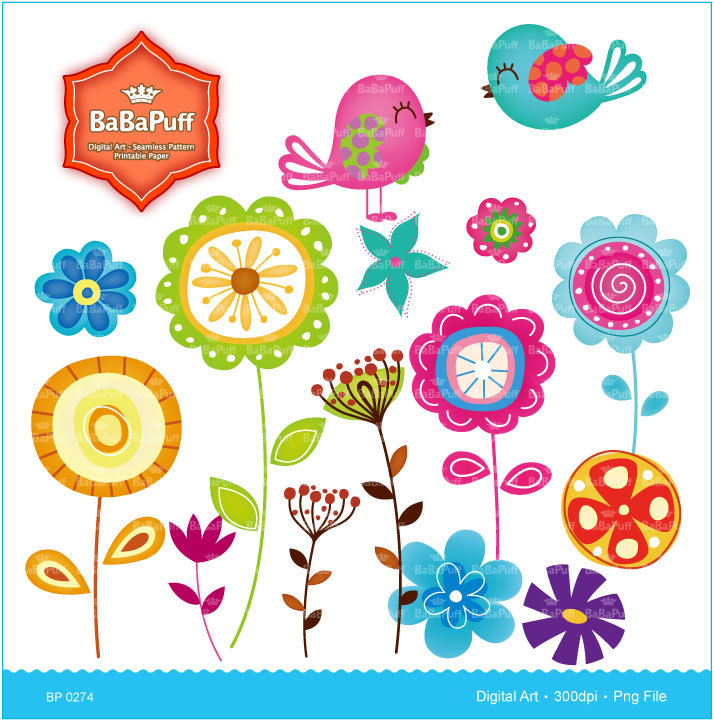 Small clipart art Personal and Flowers Flower for