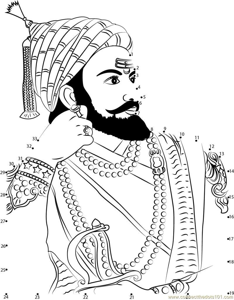 Line Art clipart shivaji maharaj Shivaji the The Dots Shivaji