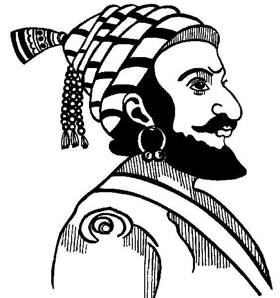 Line Art clipart shivaji maharaj TreKshitiZ Maharaj Shivaji com Photos