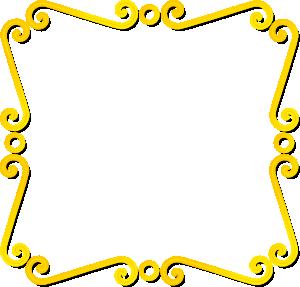 Yellow clipart borderline Vector  at clip Clker