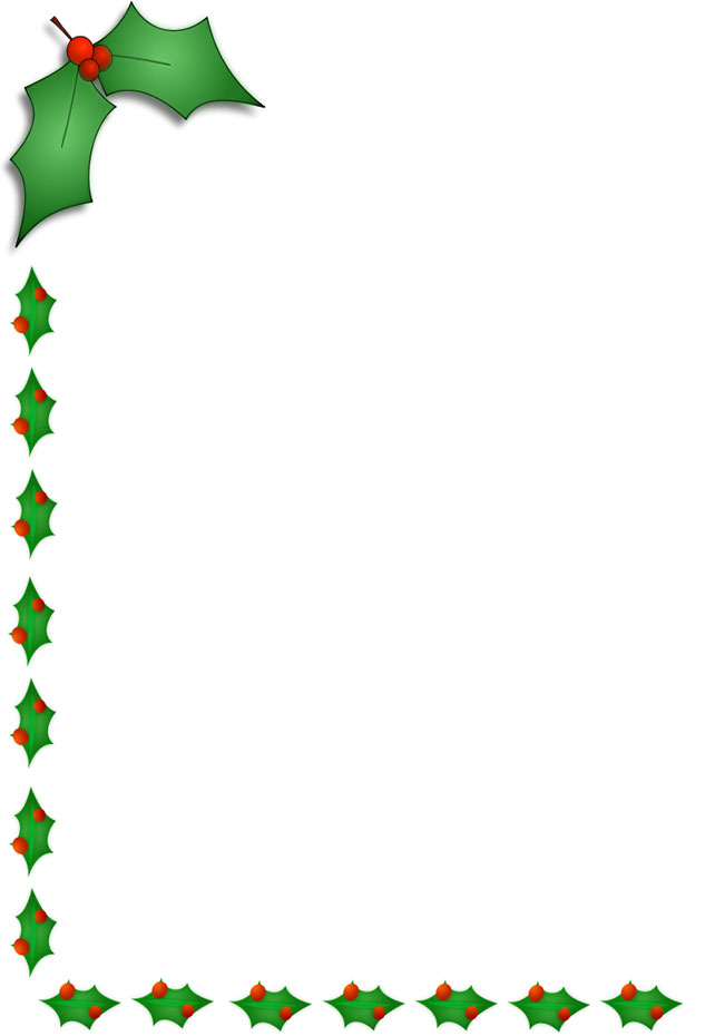 Holley clipart border Clipart Christmas collection Borders Free