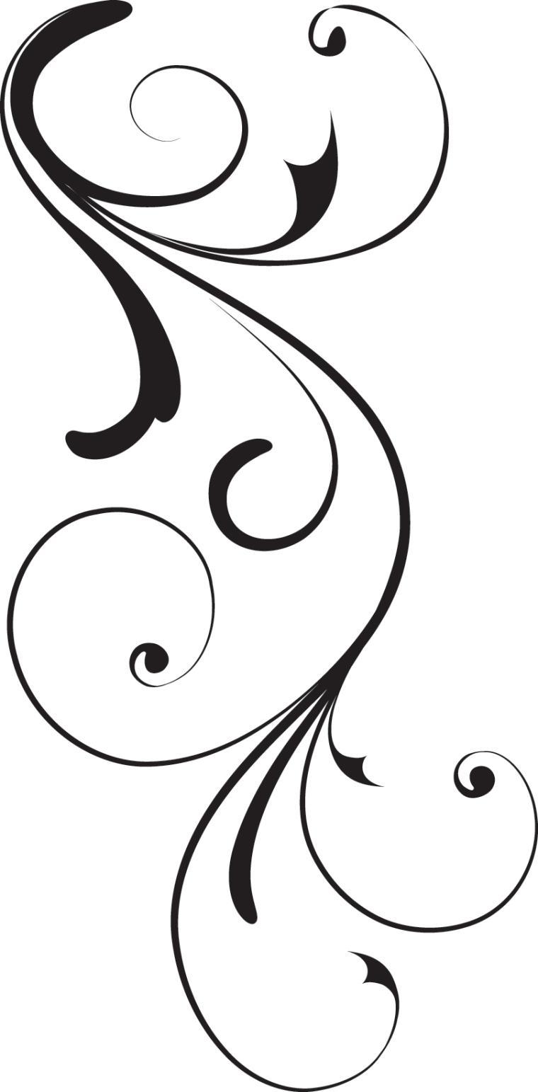 Lines clipart swirl Scroll patterns Simple Royalty swirls