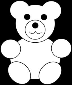 Teddy clipart black and white Art Clker com vector Art