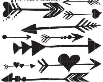 Brush clipart arrow Indian Brush Clip Clipart Drawn