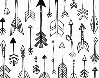 Tribal clipart line art Hand Tribal Doodle Clipart Instant