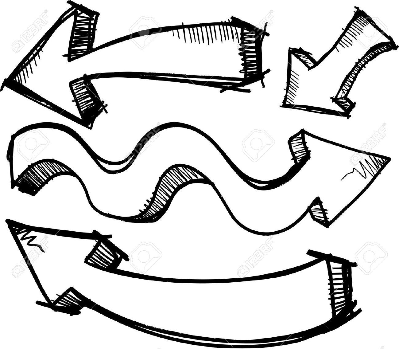 Arrow clipart doodle Art  clipart arrow clip