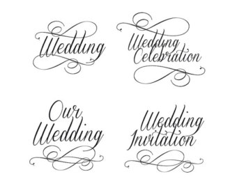 Wedding clipart text Classic clip wording wedding in