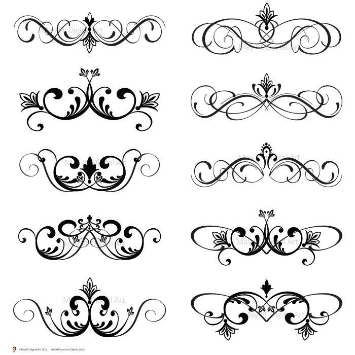 Curl clipart classic  Clipart Swirls Clip Art