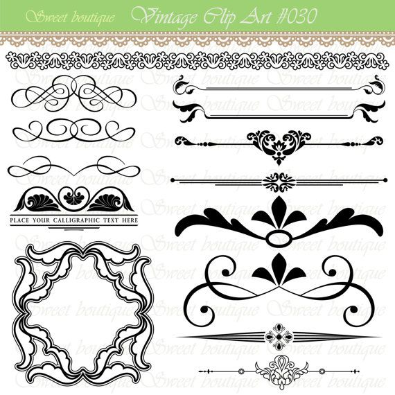 Lines clipart invitation design Collection 0030 Embellishment Pinterest Graphics