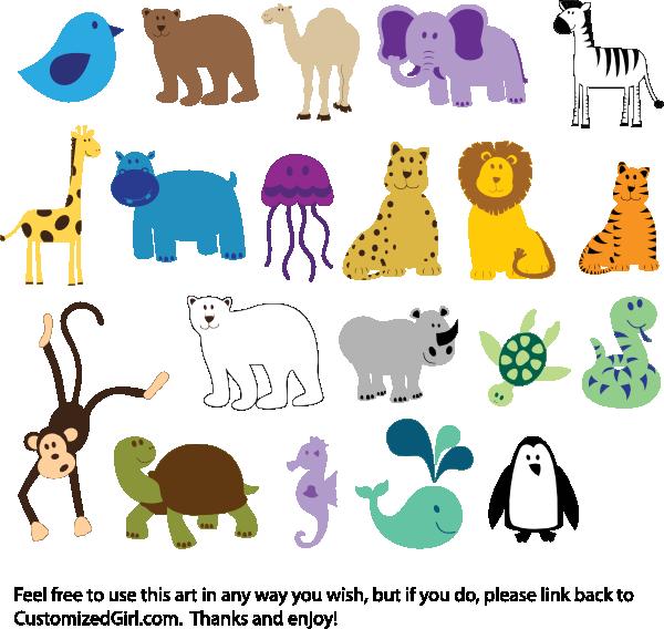Zoo clipart simple animal Animals Clipart Animal Art Bay