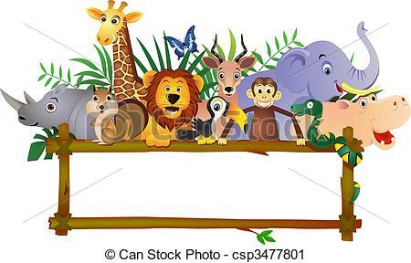 Wildlife clipart cartoon Clip Animal  csp3477801 csp3477801