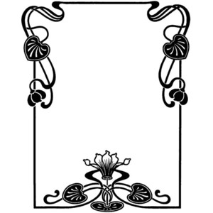Line clipart art nouveau Clipart Collection border: deco art