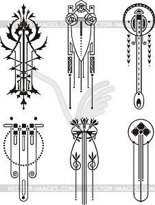 Line clipart art nouveau Graphic downloads: Pattern patterns Vector