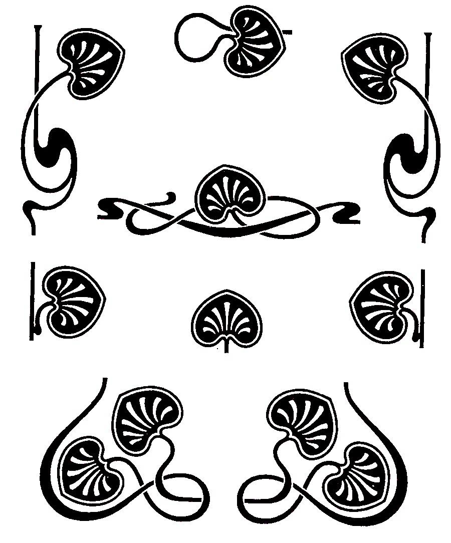 Line clipart art nouveau Clipart Free Download Deco Clip