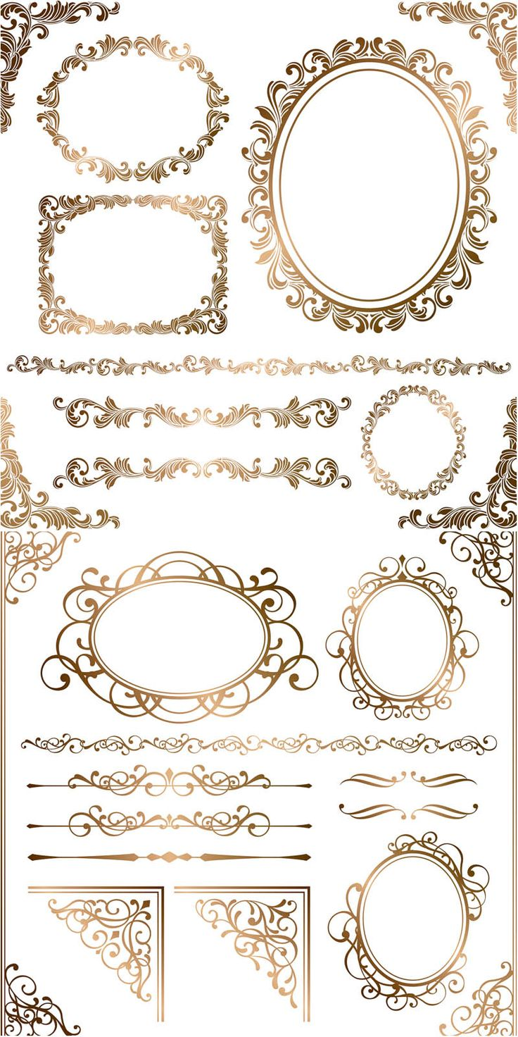 Lines clipart baroque Borders images borders Printables on