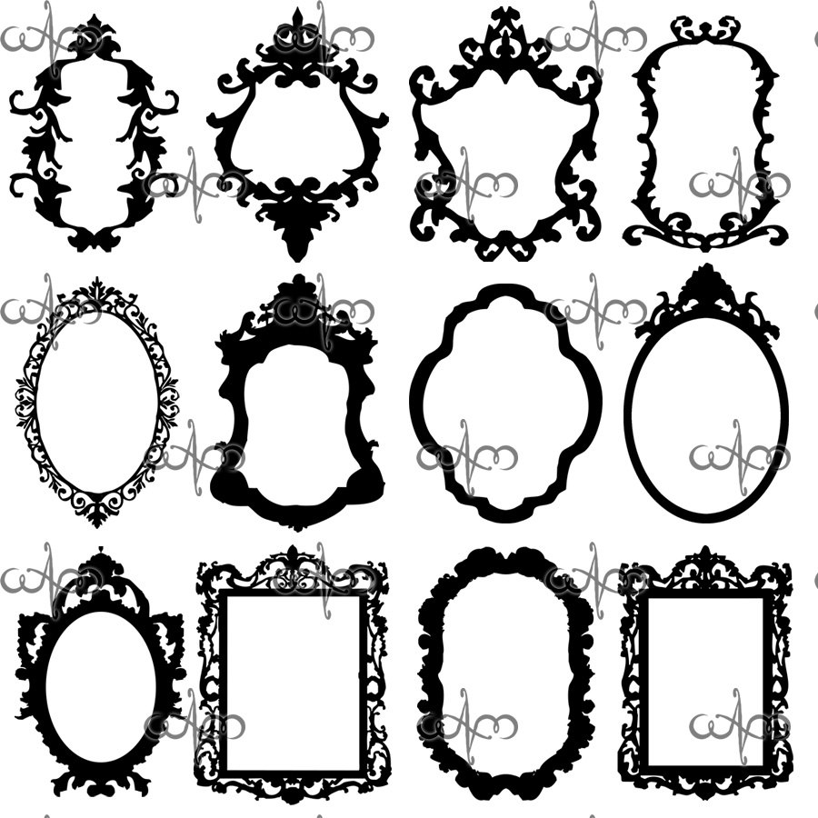 Lines clipart baroque Graphic Frames Baroque art