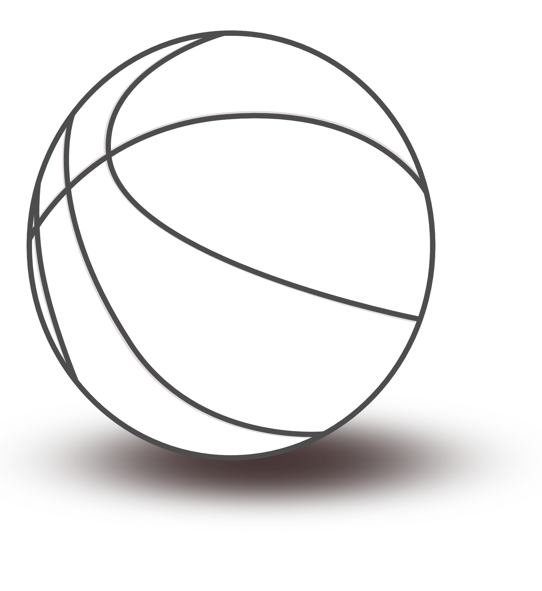 Sphere clipart black and white White basketball Art Free Free