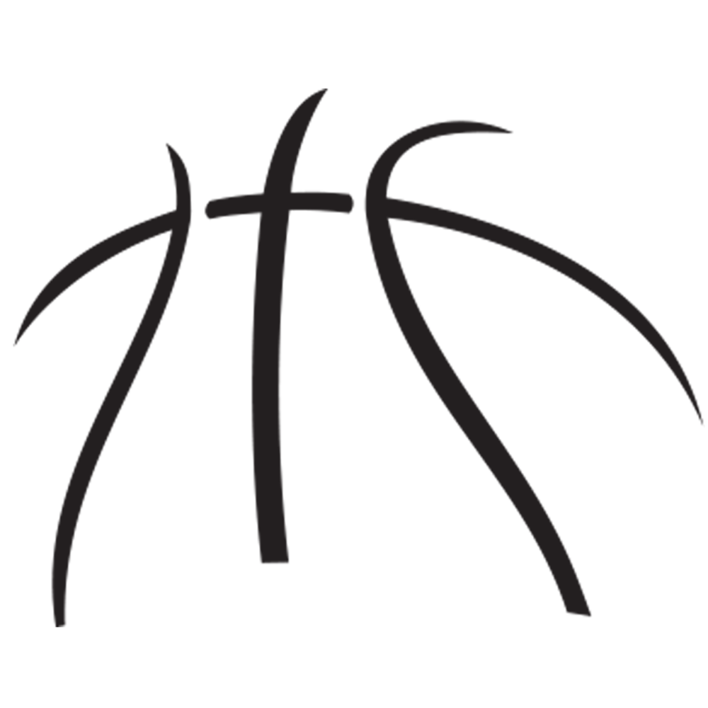 Line clipart basketball Of outline basketball  Clipart