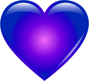 Line clipart blue Heart Clipart SMALL Blue (PNG)