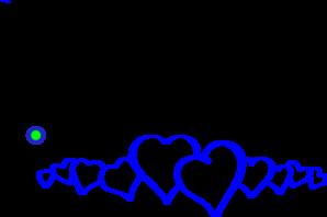 Line clipart blue Online Heart Art Clip Heart