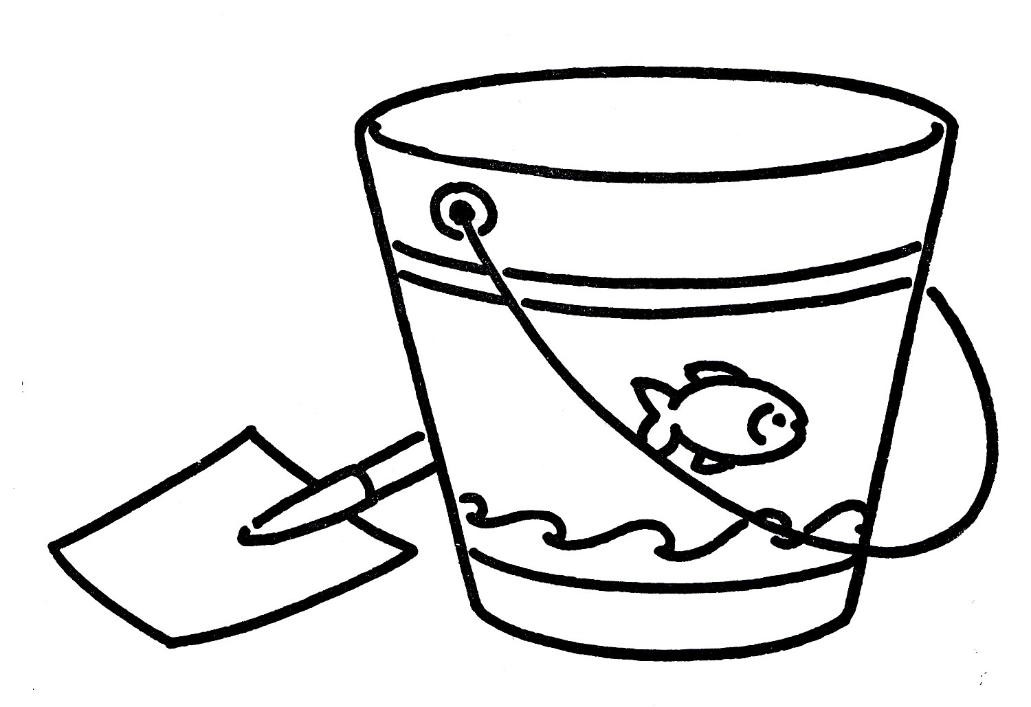 Lines clipart bucket Art Art on Clip Free