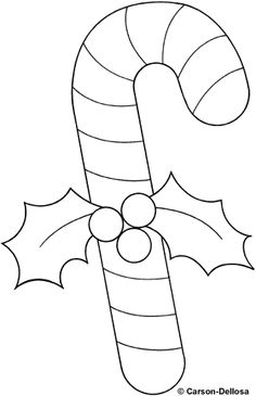 Candy Cane clipart black and white Coloring pages: and Christmas clipart
