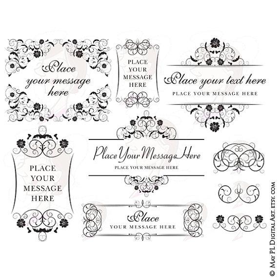 Line clipart classic Design Invitation Download Wedding Digital