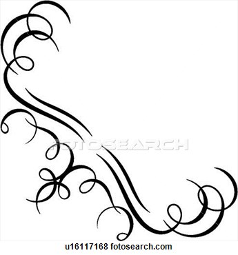 Line clipart classic  Squiggly Vintage Line Clipart