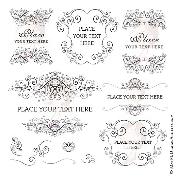 Line clipart classic Vintage Use Wedding 10118 Classic