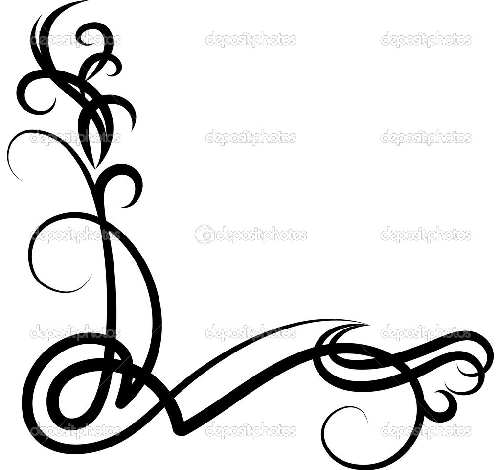 Scroll clipart decorative accent Corner%20scroll%20clip%20art Scroll Images Clipart Pink