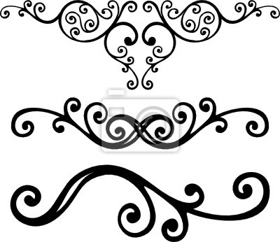 Lines clipart corner Decal floral element Wall