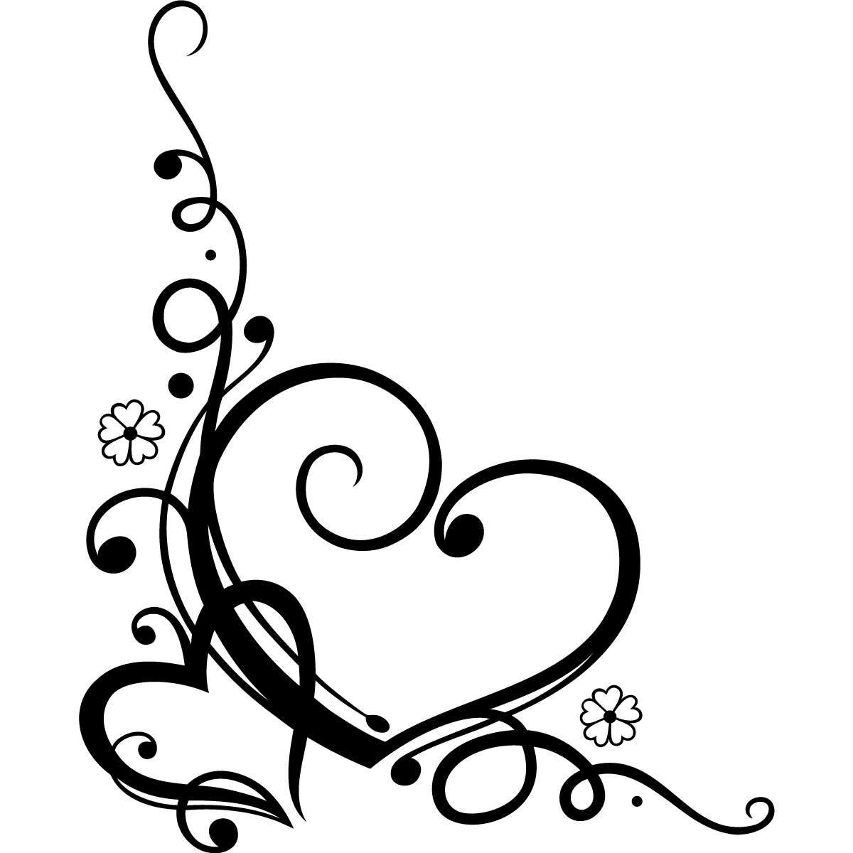 Swirl clipart love Love Wall Wall Floral Floral