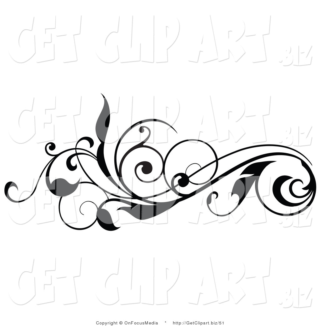 Scroll clipart vine Free Clip Clipart Art Horizontal